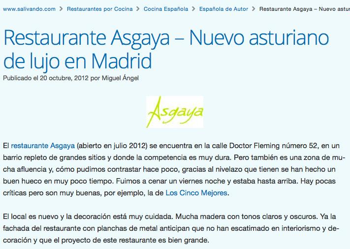 Asgaya, uno de los cinco mejores