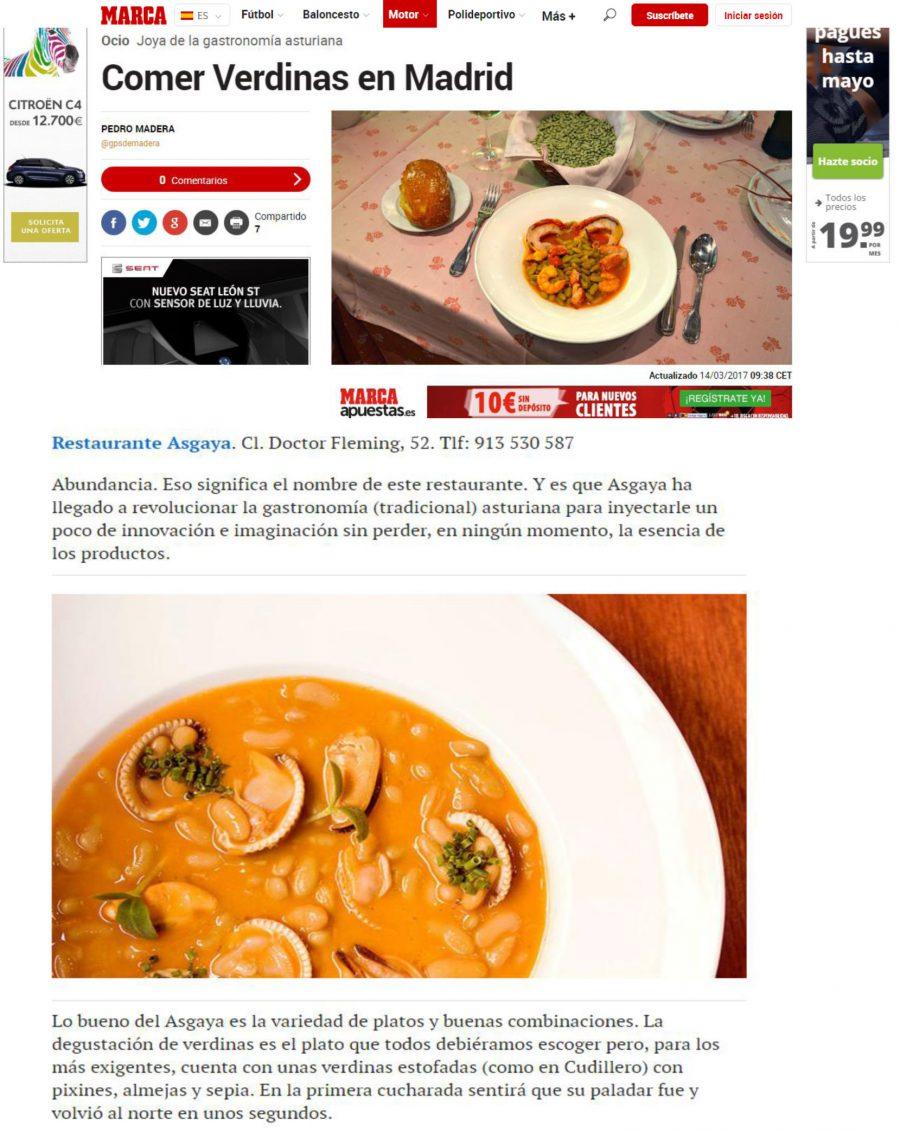 MARCA recomienda dónde comer verdinas en Madrid