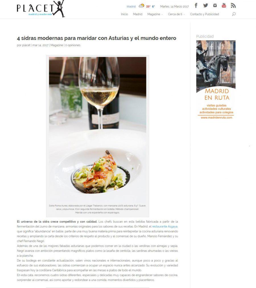 4 sidras modernas para maridar con Asturias