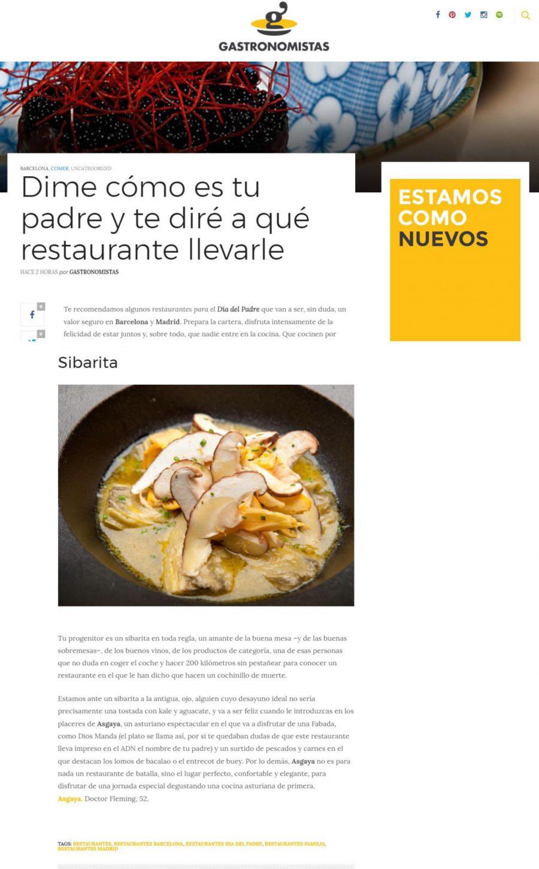 Gastronomistas, Asgaya para sibaritas